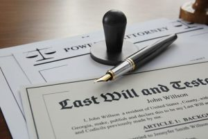 legal documents of the last will and testament