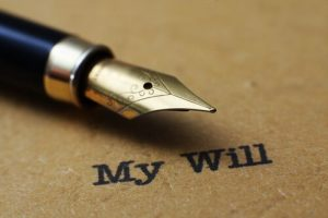 writing a person's last will
